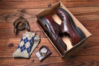 Mens Shoes Belt Socks