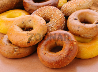 Group of Assorted Bagels