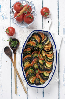 Ratatouille in old Casserolle