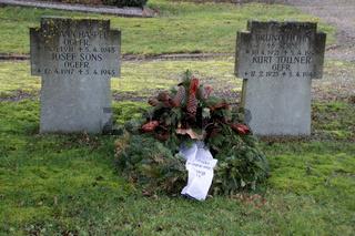 Soldatengräber auf dem Friedhof in Wöbbel