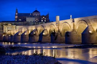 Roman Bridge and Mosque Cathedral in Cordoba