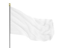 llustration of an empty white flag developing isolated. High-resolution image