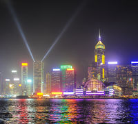 Hong Kong lights show