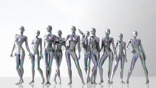 Digitale 3D Illustration von Schaufensterpuppen