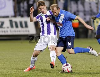 Ujpest - MTK Budapest OTP Bank League football match