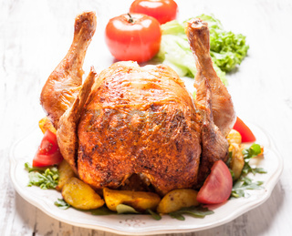 The roasted chicken