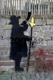 Nachwächter-Silhouette in Schwalenberg