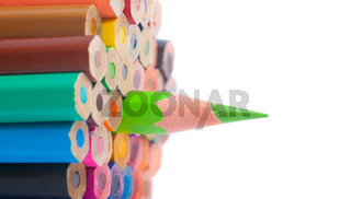 color pencils - closeup, macro shot
