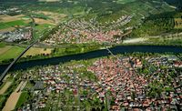 Aerial view of Zellingen-Retzbach am Main