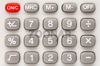 Calculator keypad.