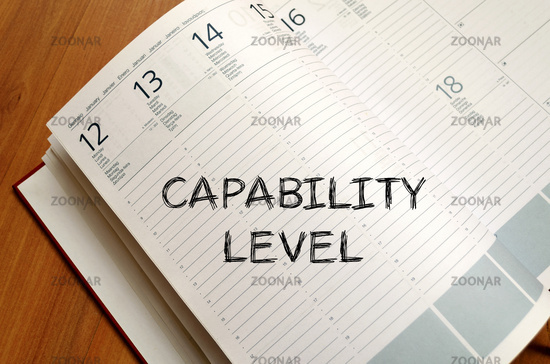 Capability level write on notebook