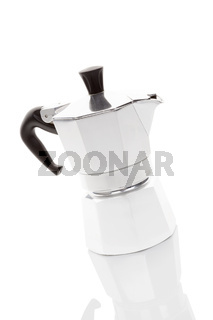 Moca pot isolated on white background.