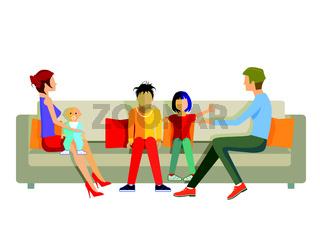 Familie auf dem Sofa.eps
