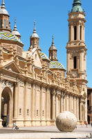 Our Lady of the Pillar Cathedral in Zaragoza, Spain