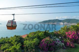 Vinpearl funicular cable car Nha Trang, Vietnam