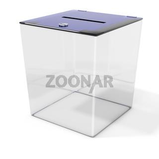 3d empty ballot box vote