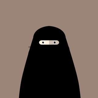 Muslim woman niqab flat avatar