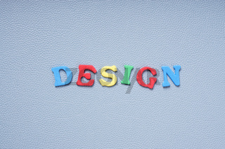 design in colorful letters