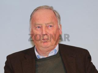 Fraktionsvorsitzender MdL Dr. Alexander Gauland (AfD Brandenburg) während einer Wahlkampfveranstaltung der AfD zur Landtagswahl Sachsen-Anhalt 2016
