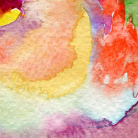 Abstract circle watercolor hand painted background. Paper texture.