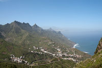 Overlooking the village of Taganana in the Anaga Mountains on Canary Island Tenerife