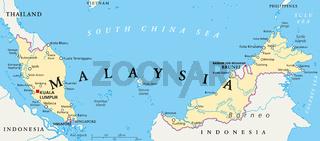 Malaysia Landkarte