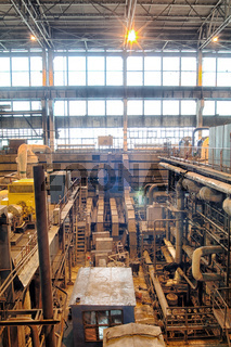 steam turbine on power plant
