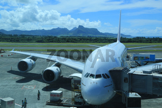 Mauritius, Sir Seewoosagur Ramgoolam International Airport mit Airbus A380