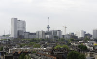skyline of rotterdam city in Holland