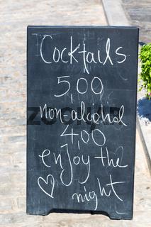 greece  brasserie menu bulletin