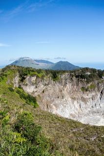 caldera of Mahawu volcano, Sulawesi, Indonesia