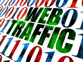 Web development concept: Web Traffic on Digital background
