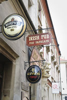 Irish Pub signboard Krakow