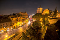 Old Town in Rome, Italy at night