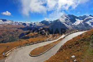 Great highway winds between hillsides