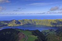 Lagoa Azul on San Miguel island of Azores