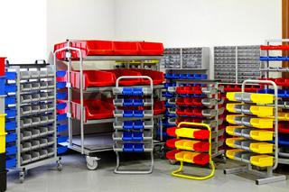 Colourful shelf assortment