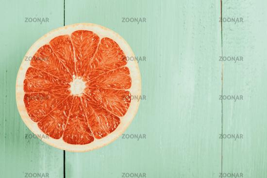 Retro Effect Of Fresh Red Orange Slice