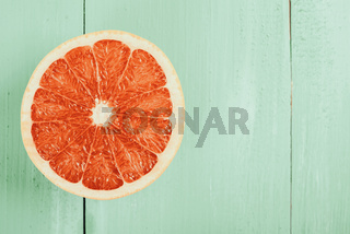 Retro Effect Of Fresh Red Orange Slice
