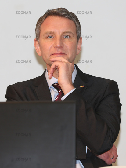 Group Chairman MdL Björn Höcke (AfD Thuringia) at a campaign rally AfD state election Saxony-Anhalt