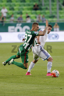 Ferencvaros vs. Bekescsaba OTP Bank League football match