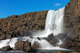 Der Oxarafoss Wasserfall in Island