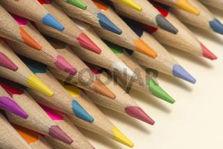 Wooden colour pencils