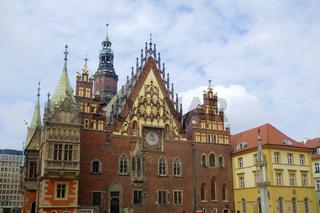 Historisches Rathaus von Wroclaw,polen