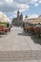 Pavement cafe in Krakow Poland