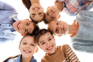 happy smiling children faces