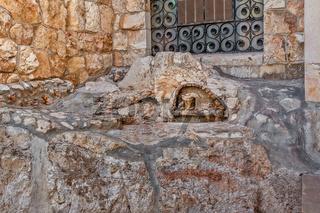 The rock of agony in Jerusalem, Israel.