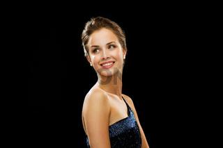 beautiful woman wearing pearl earrings