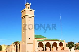 in maroc africa minaret  the blue    sky
