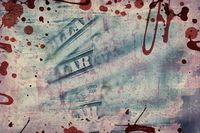 US dollars background , artistic processed and toned photo
